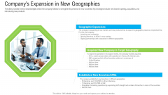 Pitch Deck To Raise Funding From Secondary Market Companys Expansion In New Geographies Information PDF