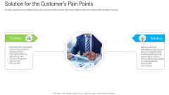 Pitch Deck To Raise Funding From Secondary Market Solution For The Customers Pain Points Professional PDF