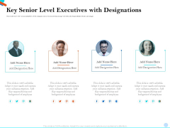 Pitch Presentation Raising Series C Funds Investment Company Key Senior Level Executives With Designations Download PDF