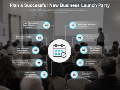Plan A Successful New Business Launch Party Ppt PowerPoint Presentation Model Shapes
