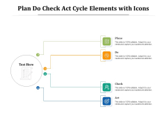 Plan Do Check Act Cycle Elements With Icons Ppt PowerPoint Presentation Outline Maker PDF
