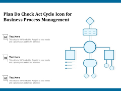 Plan Do Check Act Cycle Icon For Business Process Management Ppt PowerPoint Presentation Infographic Template Graphic Tips PDF