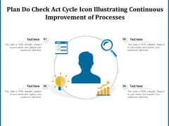 Plan Do Check Act Cycle Icon Illustrating Continuous Improvement Of Processes Ppt PowerPoint Presentation Portfolio Sample PDF