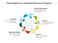 Plan Enablers For Successful Business Progress Ppt PowerPoint Presentation Infographics Slide Portrait PDF