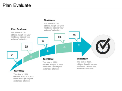 Plan Evaluate Ppt PowerPoint Presentation Infographic Template Display Cpb