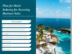Plan For Hotel Industry For Assessing Business Sales Ppt PowerPoint Presentation File Slides PDF