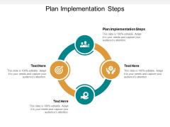 Plan Implementation Steps Ppt PowerPoint Presentation Diagram Graph Charts Cpb