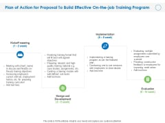 Plan Of Action For Proposal To Build Effective On The Job Training Program Ppt PowerPoint Presentation Icon Slides PDF