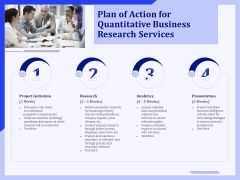 Plan Of Action For Quantitative Business Research Services Ppt PowerPoint Presentation File Diagrams PDF