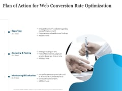 Plan Of Action For Web Conversion Rate Optimization Ppt Portfolio Graphics PDF