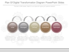 Plan Of Digital Transformation Diagram Powerpoint Slides