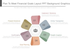 Plan To Meet Financial Goals Layout Ppt Background Graphics