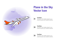 Plane In The Sky Vector Icon Ppt PowerPoint Presentation Ideas Example