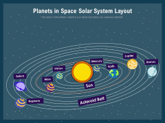 Planets In Space Solar System Layout Ppt PowerPoint Presentation Gallery Clipart PDF