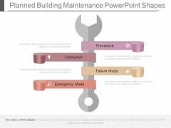 Planned Building Maintenance Powerpoint Shapes