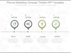 Planned Marketing Campaign Timeline Ppt Templates