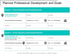Planned Professional Development And Goals Ppt PowerPoint Presentation Ideas Example