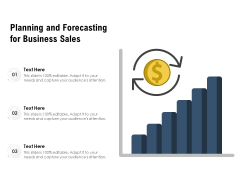 Planning And Forecasting For Business Sales Ppt PowerPoint Presentation File Information PDF