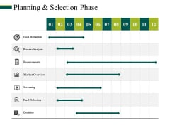 Planning And Selection Phase Ppt PowerPoint Presentation Icon Visuals