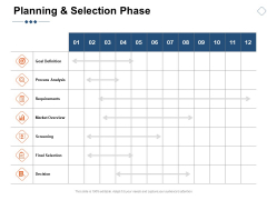 Planning And Selection Phase Ppt PowerPoint Presentation Show Background Image
