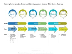 Planning For Construction Deployment Client Management Systems IT Six Months Roadmap Download