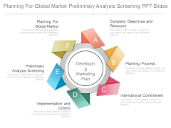 Planning For Global Market Preliminary Analysis Screening Ppt Slides