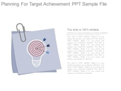 Planning For Target Achievement Ppt Sample File