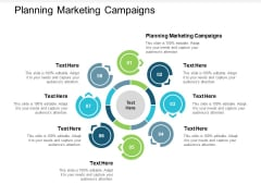 Planning Marketing Campaigns Ppt PowerPoint Presentation Infographics Example Cpb