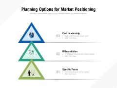 Planning Options For Market Positioning Ppt PowerPoint Presentation File Slide Download PDF