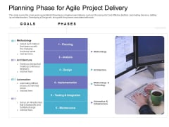Planning Phase For Agile Project Delivery Professional PDF