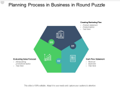 Planning Process In Business In Round Puzzle Ppt PowerPoint Presentation Summary Mockup