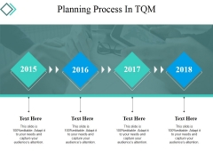 Planning Process In Tqm Ppt PowerPoint Presentation Infographics Template