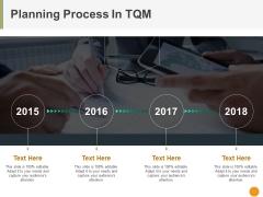 Planning Process In Tqm Ppt PowerPoint Presentation Portfolio Outline