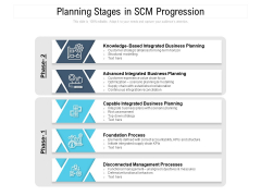 Planning Stages In SCM Progression Ppt PowerPoint Presentation File Information PDF