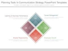 Planning Tools In Communication Strategy Powerpoint Templates