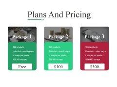 Plans And Pricing Ppt PowerPoint Presentation Gallery Example File