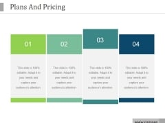 Plans And Pricing Ppt PowerPoint Presentation Ideas