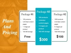 Plans And Pricing Ppt PowerPoint Presentation Infographics Portfolio