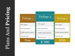 Plans And Pricing Ppt PowerPoint Presentation Show Guide