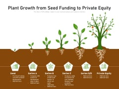 Plant Growth From Seed Funding To Private Equity Ppt PowerPoint Presentation Gallery Background Designs PDF
