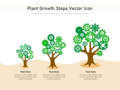 Plant Growth Steps Vector Icon Ppt PowerPoint Presentation Gallery Topics PDF