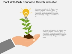 Plant With Bulb Education Growth Indication Powerpoint Template