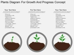Plants Diagram For Growth And Progress Concept Powerpoint Template