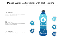 Plastic Water Bottle Vector With Text Holders Ppt PowerPoint Presentation Styles Good PDF