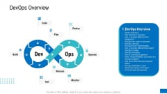 Platform Engineering PowerPoint Template Slides Devops Overview Clipart PDF