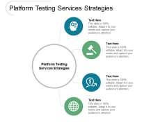 Platform Testing Services Strategies Ppt PowerPoint Presentation Professional Graphic Tips Cpb Pdf