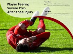 Player Feeling Severe Pain After Knee Injury Ppt PowerPoint Presentation Gallery Infographic Template PDF