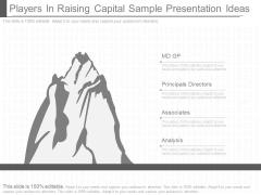 Players In Raising Capital Sample Presentation Ideas