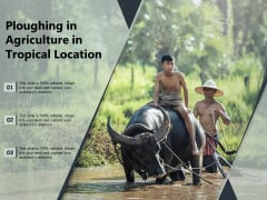 Ploughing In Agriculture In Tropical Location Ppt PowerPoint Presentation File Elements PDF