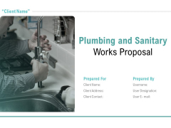 Plumbing And Sanitary Works Proposal Ppt PowerPoint Presentation Complete Deck With Slides